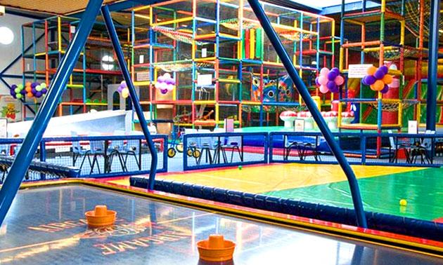 ballorig amsterdam gaasperplas, entree voor kinderspeelparadijs