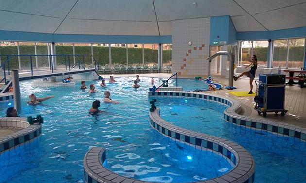 Optisport zwembad poelmeer entree subtropisch zwembad friet