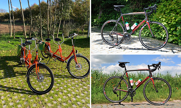 Daghuur: tandem (2 pers.), racefiets of gravelbike