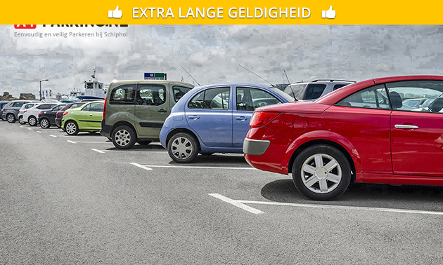 1 tot 25 dagen parkeren nabij Schiphol + bustransfer