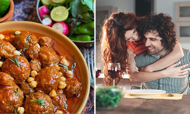 Afhalen: voorgerechten + curry's + brood