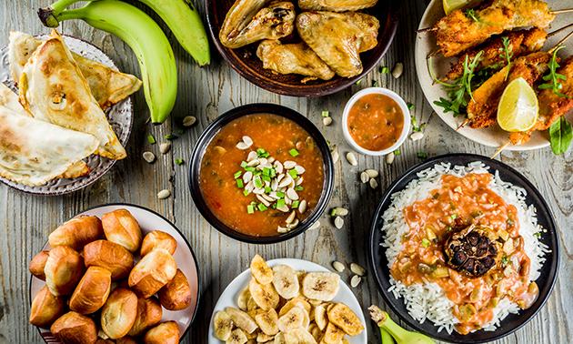Afhalen: Afrikaanse rijsttafel