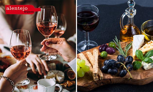Wijnproeverij + hapjes óf waardebon