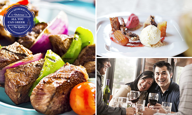 All-You-Can-Eat & Drink (2,5 uur) bij All You Can Greek
