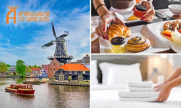 Overnachting voor 2 + ontbijt + evt. diner in hartje Haarlem