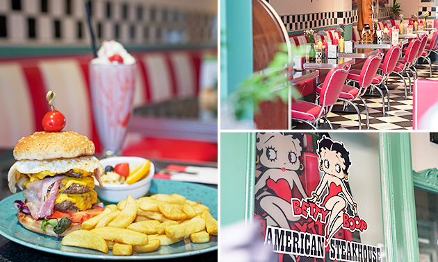 2-gangenlunch bij American Steakhouse Betty Boop