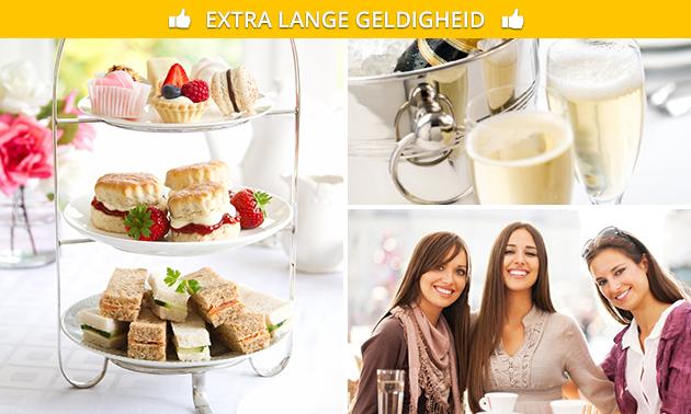 High tea + glas bubbels bij Amrâth