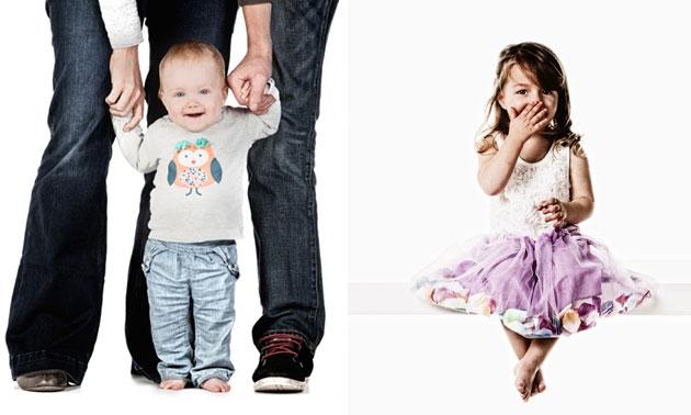 Fotoshoot voor 1 tot 4 personen + 2 afdrukken