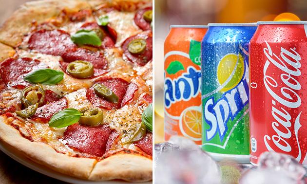 Afhalen: pizza (25+ keuzes) + frisdrank