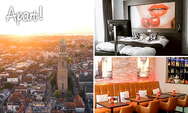 Overnachting voor 2 + ontbijt + wijn in hartje Zwolle
