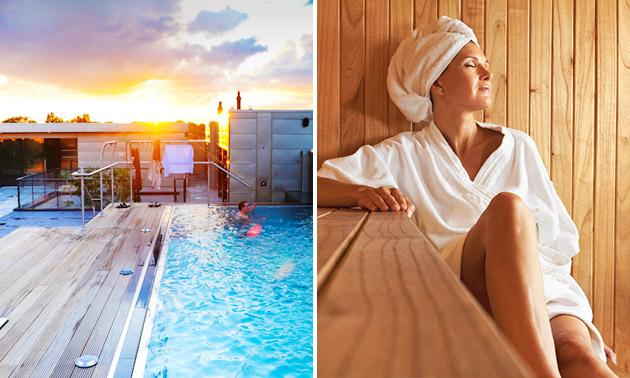 Entree sauna en wellness + glas bubbels