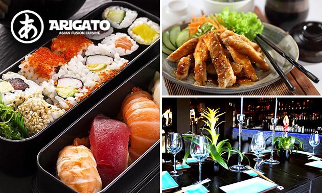 5-gangendiner bij Arigato restaurant & club
