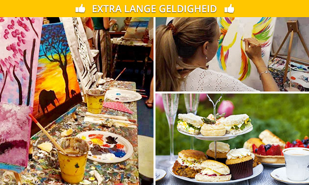 Schilderworkshop (3 uur) + high tea
