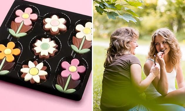 Afhalen: doosje(s) met chocoladebloemen naar keuze