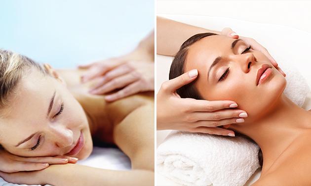 Massage + evt. gezichtsbehandeling