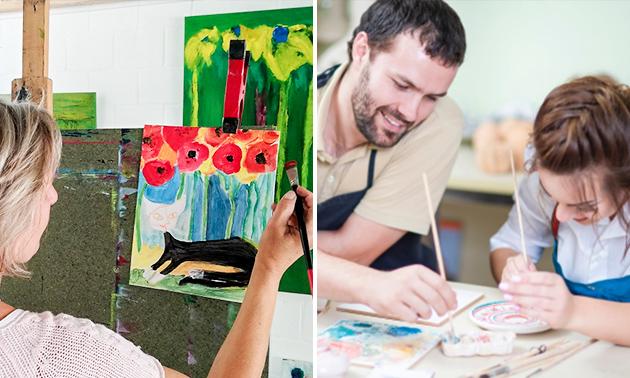 Workshop schilderen (3 uur) + hapje en drankje