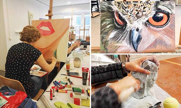 Workshop beeldhouwen of schilderen (3 uur)