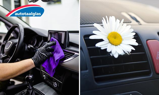 Complete desinfectie- en reinigingsbehandeling van je auto