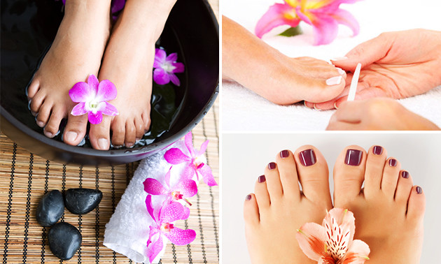 Pedicurebehandeling + gellak (90 min)