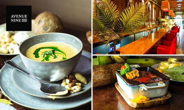 Surinaamse 2-gangen keuzelunch in pop-up restaurant