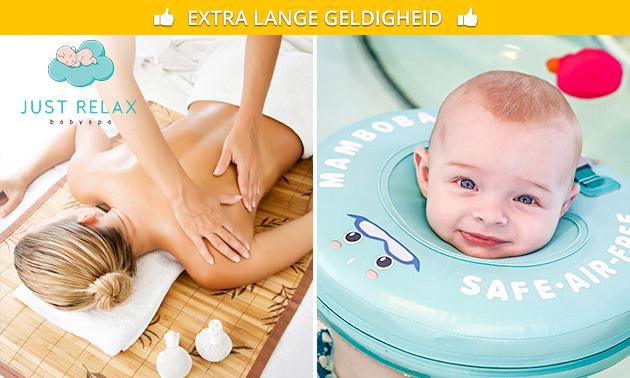 Floaten voor baby's of mama-massage (60 min)