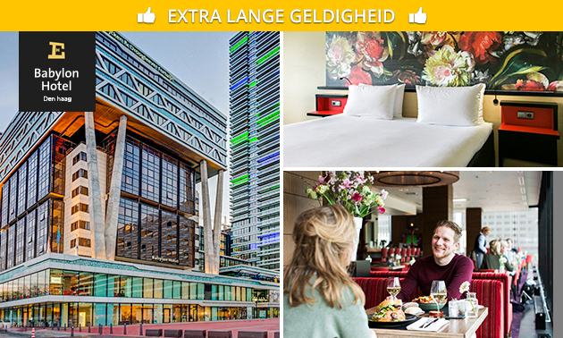 Overnachting + ontbijt + drankje voor 2 in Den Haag