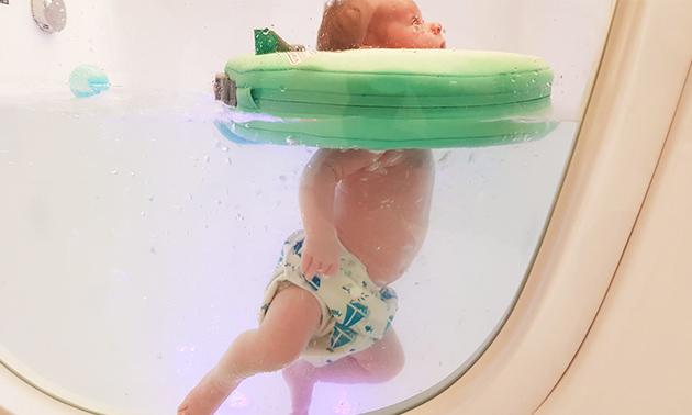 Floaten + eventueel babymassage