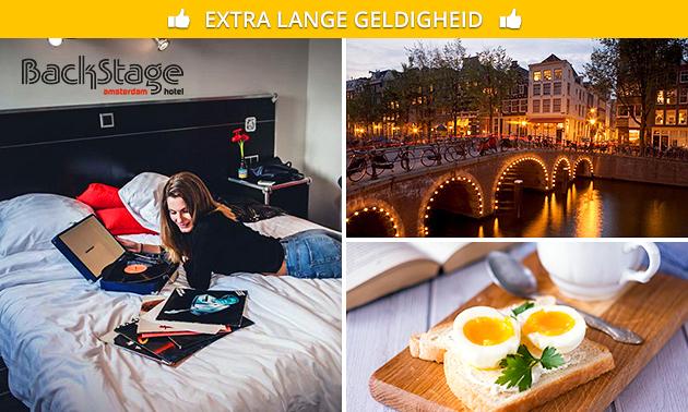 Overnachting + ontbijt + bubbels + poolen voor 2 in hartje Amsterdam