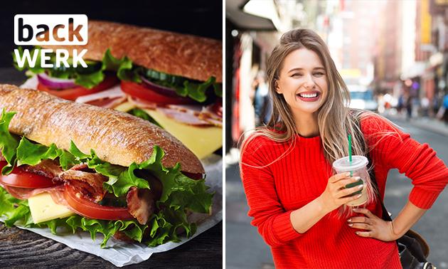 Afhalen: belegd broodje + drankje naar keuze