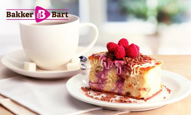 Koffie/thee + gebak bij Bakker Bart voor 2 of 3 personen