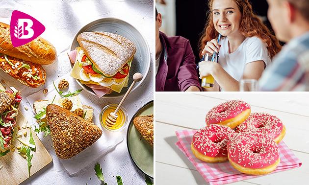 Afhalen bij Bakker Bart: broodje + smoothie + donut
