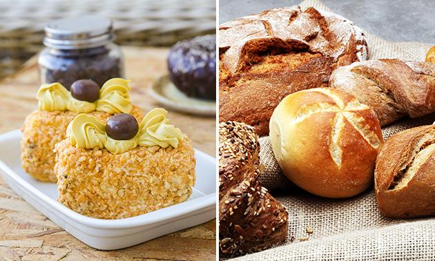 Afhalen: nougatine-schuimtaart + 10 broodjes