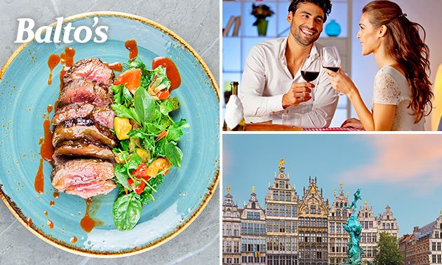 3-gangendiner à la carte bij Balto's in hartje Antwerpen