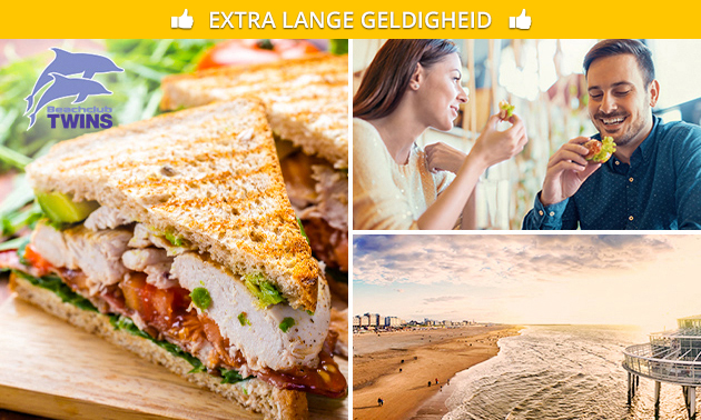 Royaal ontbijt of 2-gangenlunch aan het strand