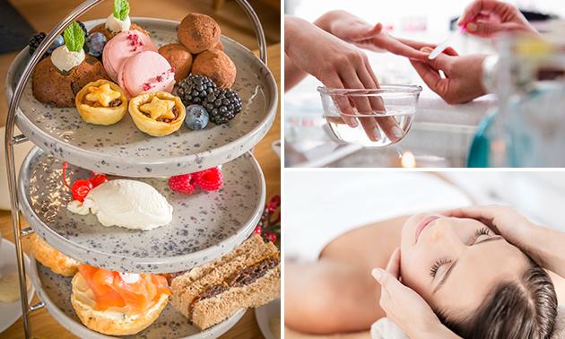 Luxe beautyarrangement + lunch of high tea (3 of 4 uur)