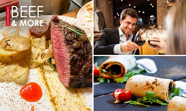 3-gangen keuzediner bij Beef & More