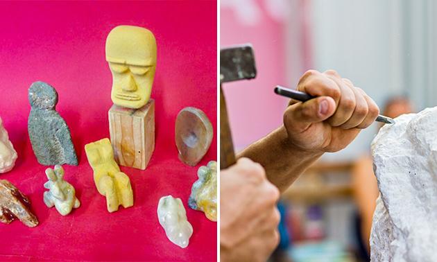 Workshop beeldhouwen (4 uur) + koffie/thee