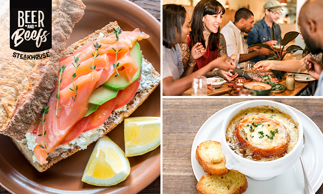 Luxe lunchplank bij Beer and Beefs