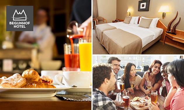 Hotelovernachting + ontbijt + bier in hartje Leuven