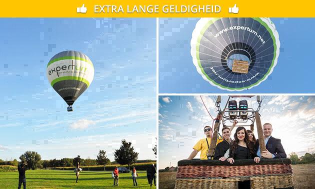 Ballonvaart (1 uur) + hapjes, cava en certificaat