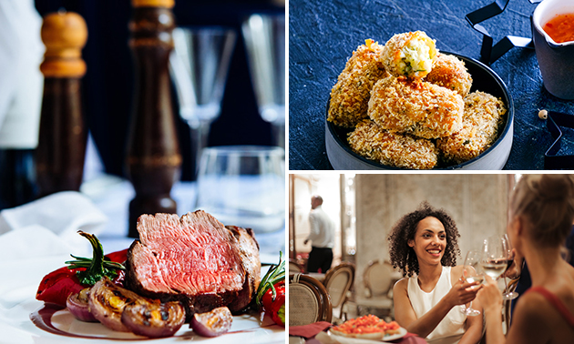 2- of 3-gangendiner- of lunch à la carte
