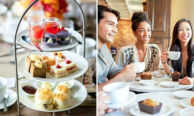 Luxe high tea + glas bubbels