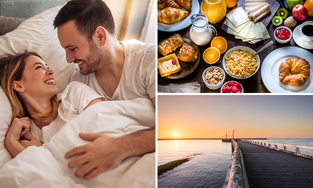 Overnachting voor 2 + ontbijt + cava nabij de Belgische kust
