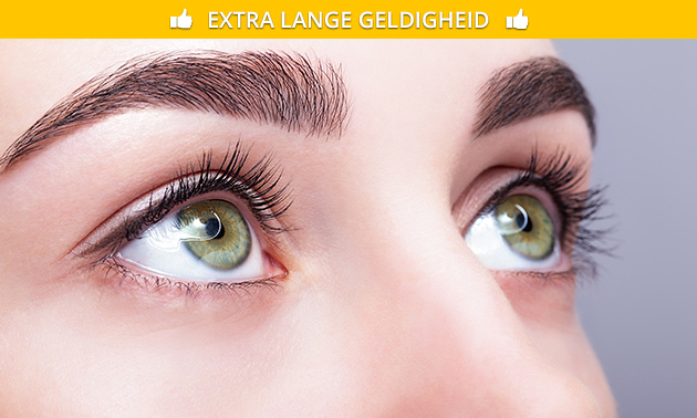 Wimperextensions one by one of wimperlift