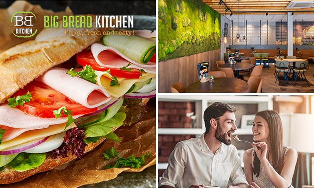 2-gangen keuzelunch bij Big Bread Kitchen