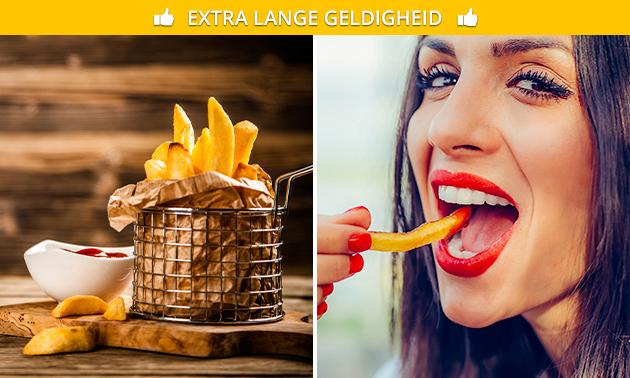 Afhalen: friet + snack + drankje