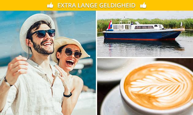 Rondvaart IJmeer en Gooimeer (2 uur) + koffie/thee