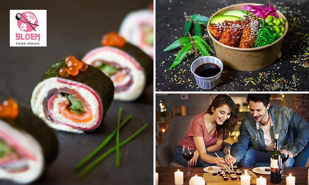 Afhalen: pokébowl of sushibox (24 of 58 stuks)
