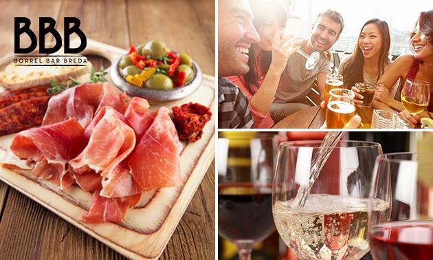 Borrelplank + bier, wijn of fris in hartje Breda