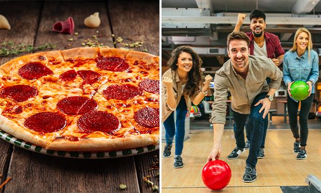 Pizza + 2 spellen bowlen bij Bowling Antares